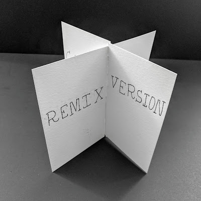 Remix Artist's Book - Pages interlocked perpendicularly. Remix version.