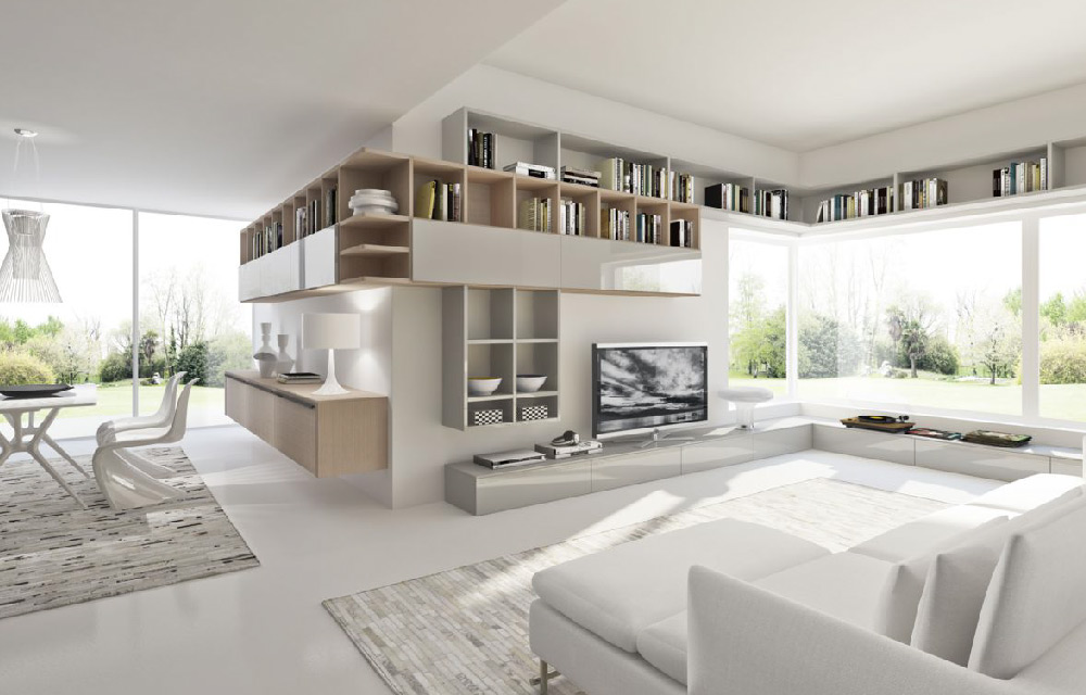 Come arredare un ampio soggiorno facendone il cuore della for Arredare un soggiorno