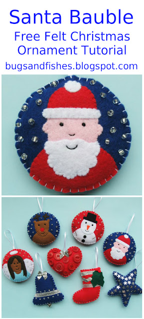felt Santa ornament tutorial