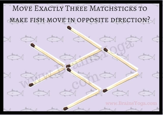 Picture Puzzle using matchsticks