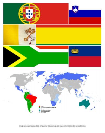 EBOOK: PAÍSES QUE NÃO EXIGEM VISTO PARA BRASILEIROS