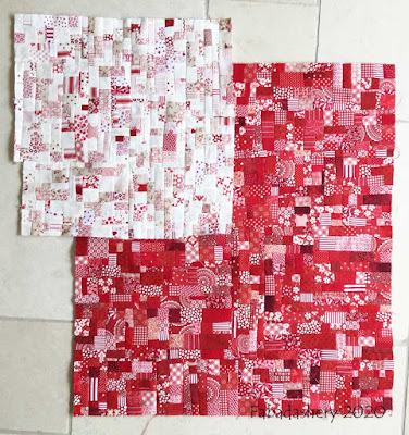 New fabric made from the red and white scraps