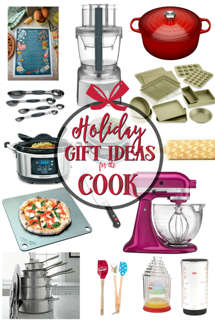 Holiday Gift Ideas for the Cook - THE ULTIMATE list for your favorite home cook! From stocking stuffers to splurges. Something for everyone!