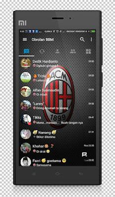 BBM Tema AC Milan v3.1.0.13 Terbaru