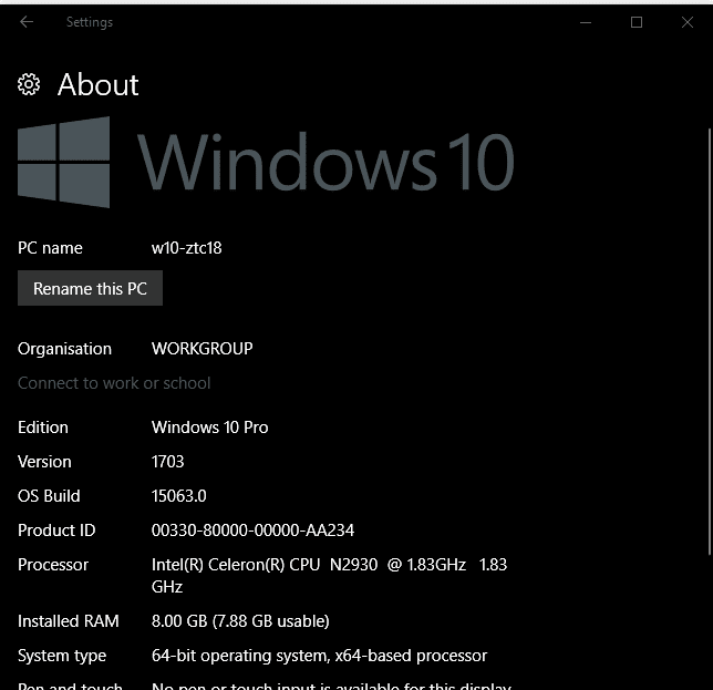 Windows 10 clean install for the Acer Aspire ES 11 Part 1