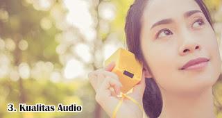 Kualitas Audio merupakan tips memilih speaker bluetooth