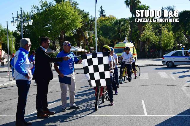 Εκκίνηση στο Ναύπλιο για τους ποδηλατικούς αγώνες των Special Olympics Ελλάς (βίντεο)