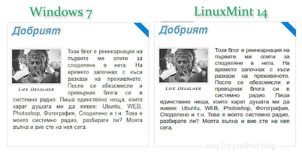 Windows 7 vs LinuxMint 14