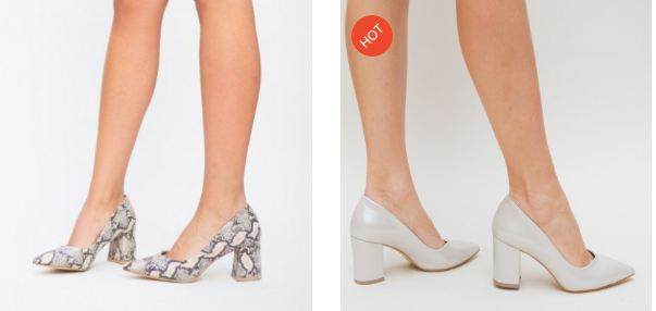 Pantofi comozi cu toc gros de ocazii bej, argintii eleganti