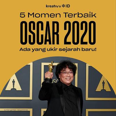 5 Momen Terbaik OSCAR 2020 Ada yang ukir sejarah baru!
