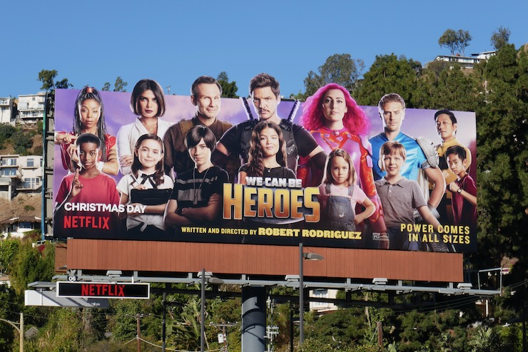 We Can Be Heroes film billboard