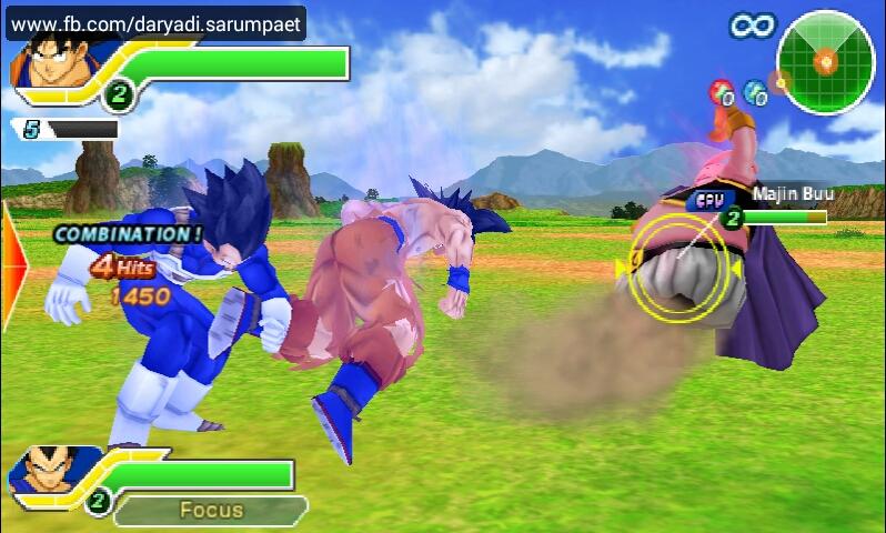 dragonball z tag team psp