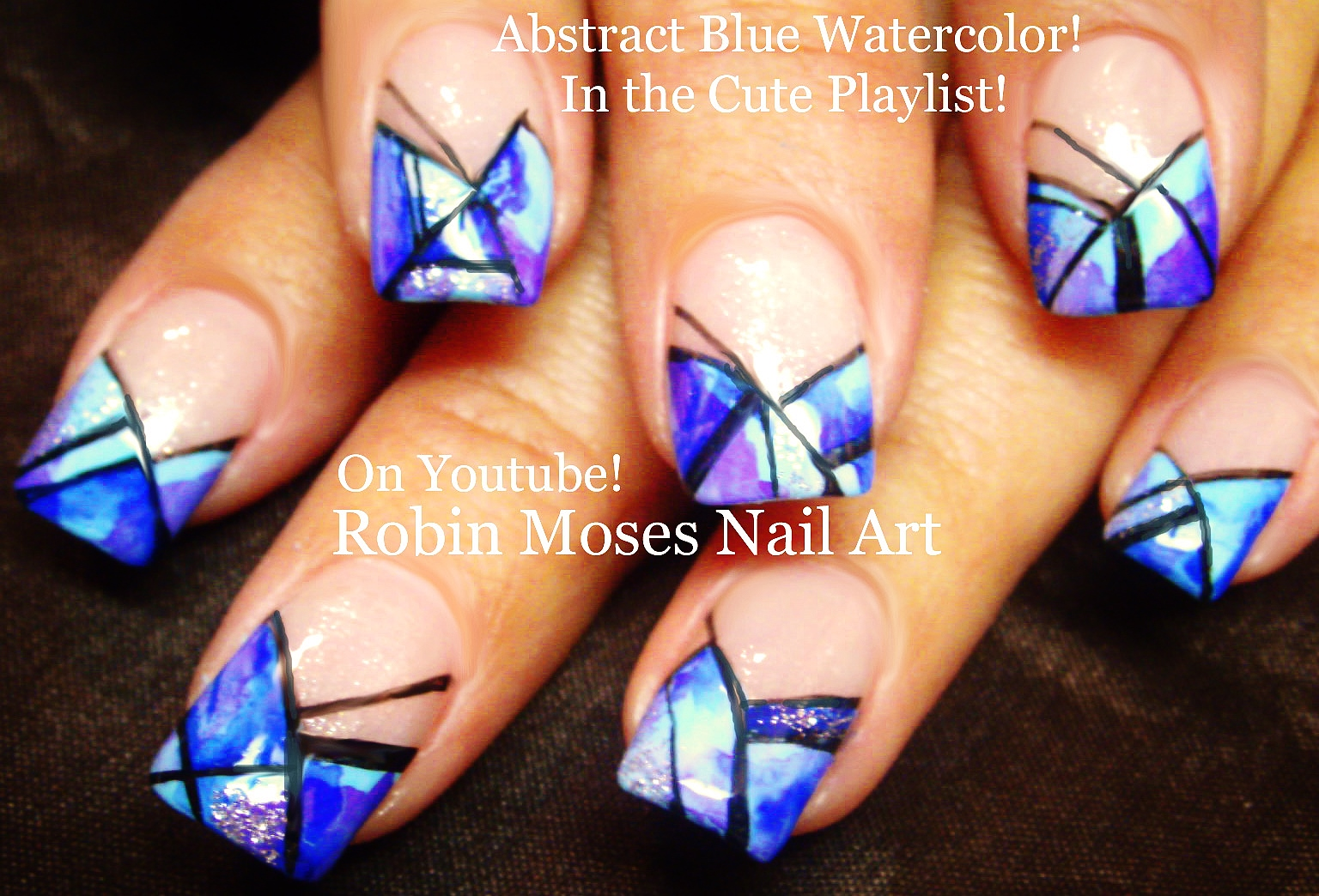 Abstract Watercolor Nails!