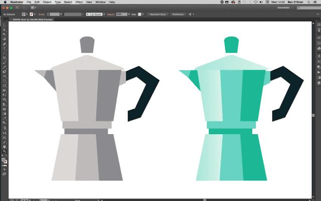 Crear icono de hervidora profesional en illustrator