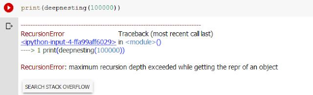 ปัญหา Stack overflow ในภาษาไพทอน เมื่อรันบน CPython