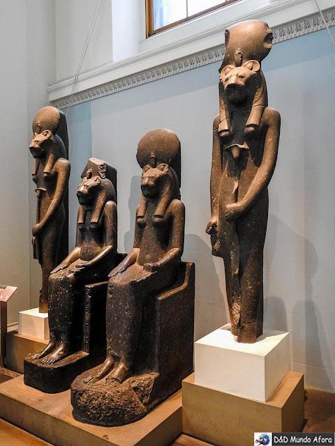 Seção Egípcia no Museu Britânico em Londres