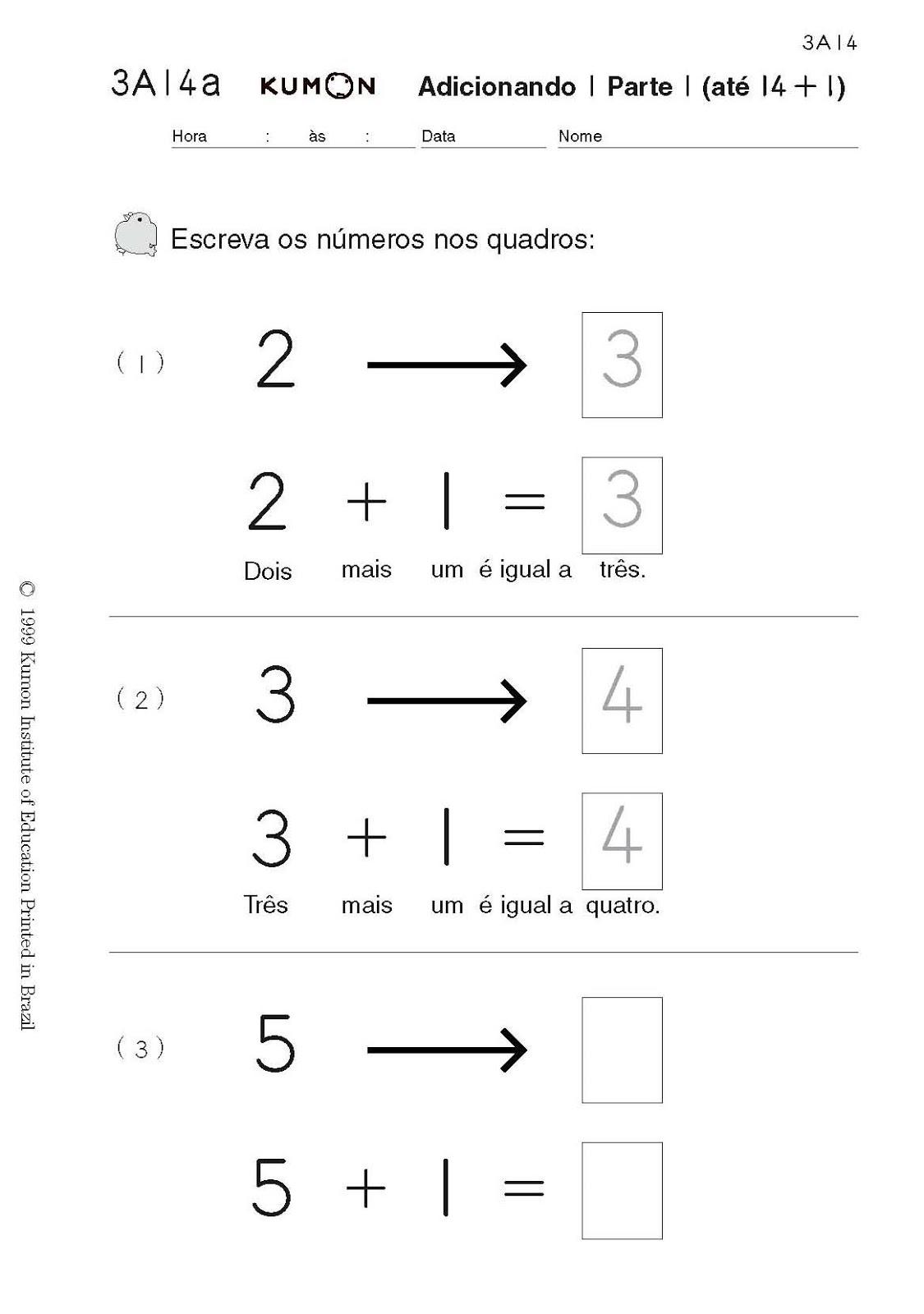 Estimulacao Infantil Matematica