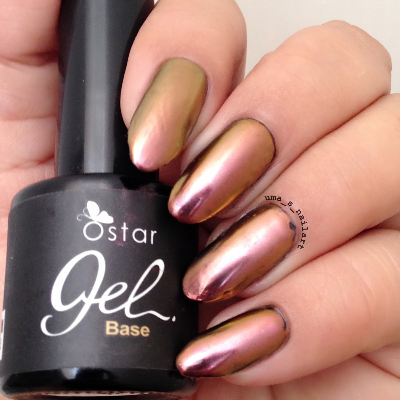 Uma's Nail Art: Ostar Rose Gold Chrome Powder Review and ...