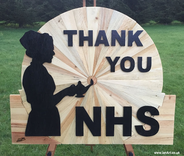 IDB-Bespoke-Wooden-Art-Thank-You-NHS-Lady-and-a-lamp-nightingale-Ian-Art-A127