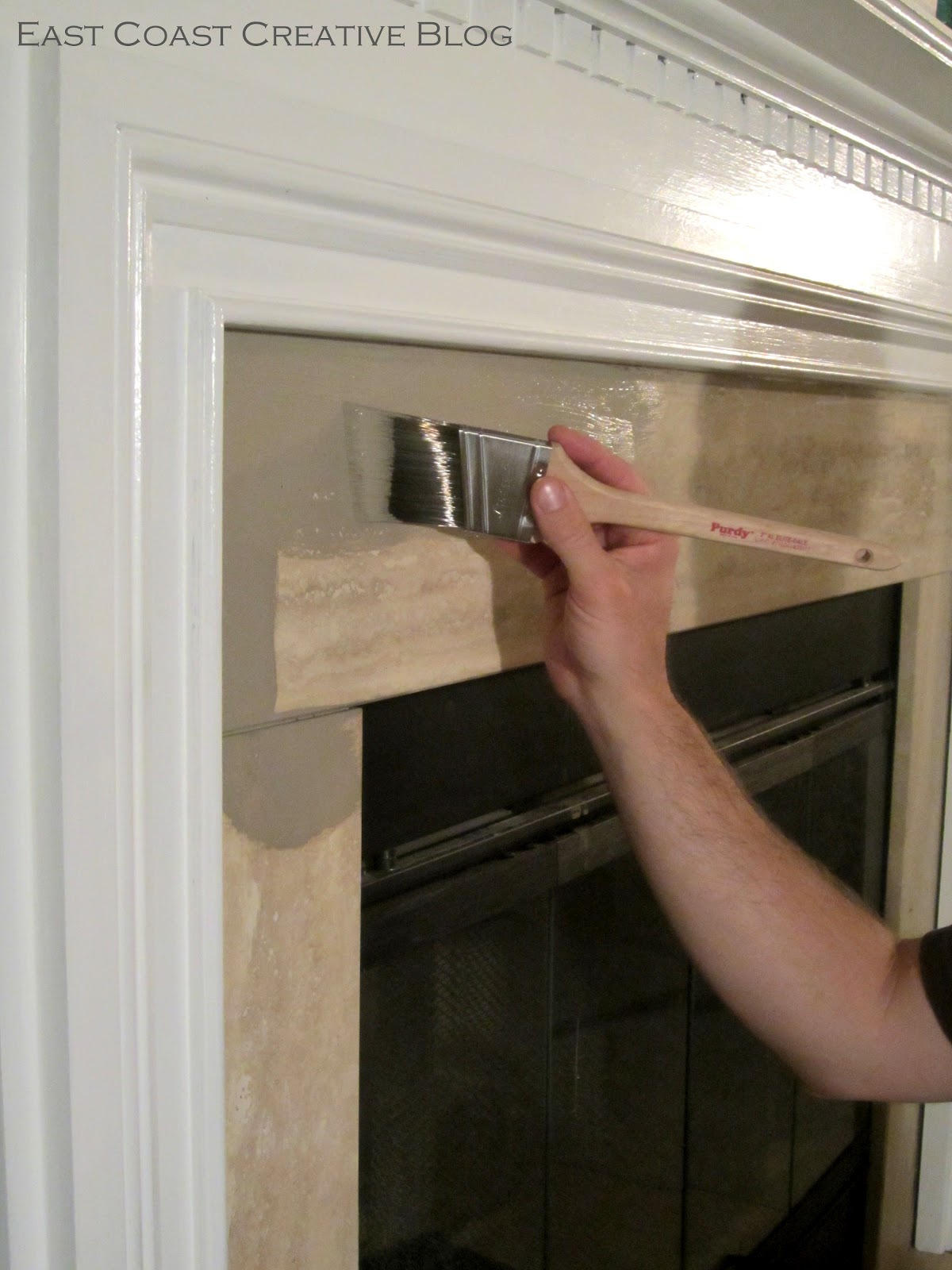 Painting Over Fireplace Simple Fireplace Upgrade Annie Sloan Chalk Paint