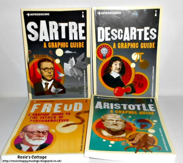 Graphic guides to Sarte Descartes Freuid and Aristotle