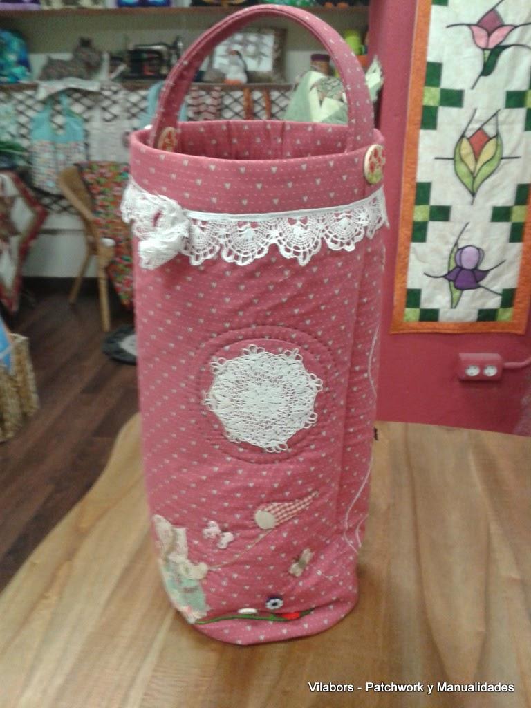 Bolso para labores de tejer hecho en Patchwork - Vilabors, Vilafranca del Penedès