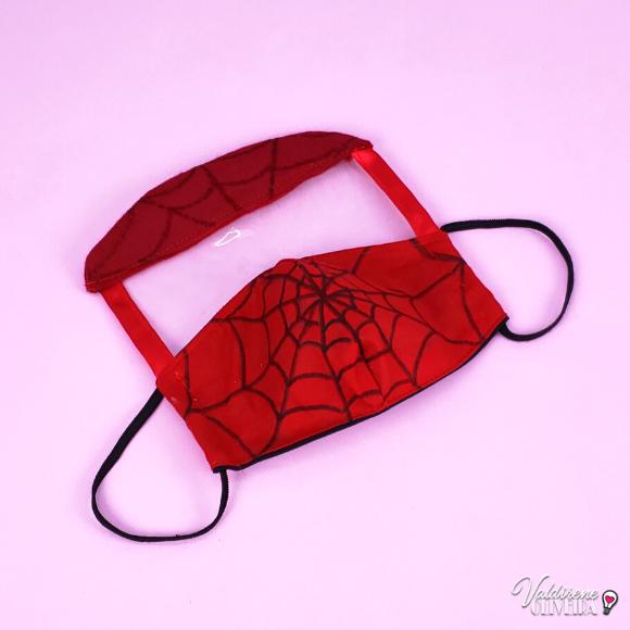faca você mesmo  mascara de tecido homem aranha