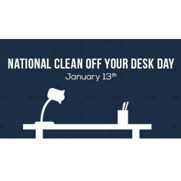 National Clean Your Desk Day Wishes Images download