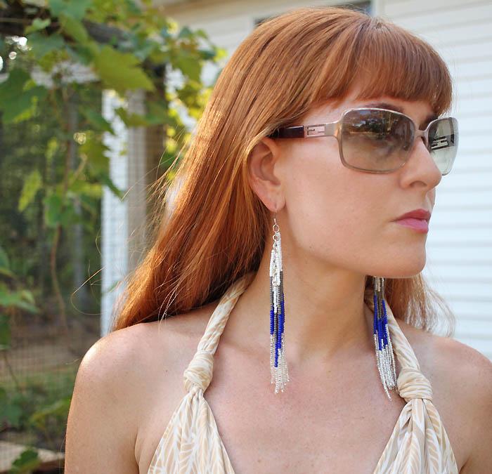 DIY Beaded Fringe Earrings