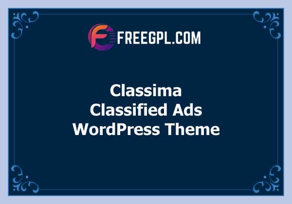 Classima - Classified Ads WordPress Theme Free Download