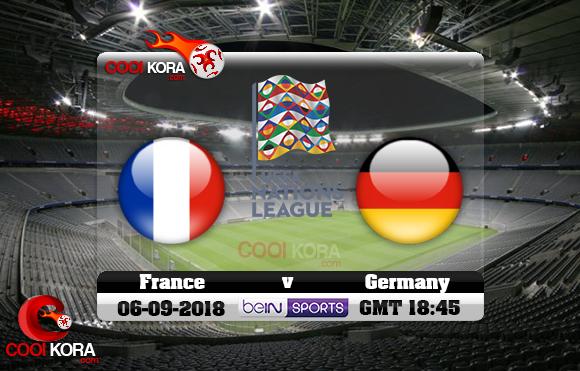مشاهدة مباراة ألمانيا وفرنسا اليوم 6-9-2018 دوري الأمم الأوروبية
