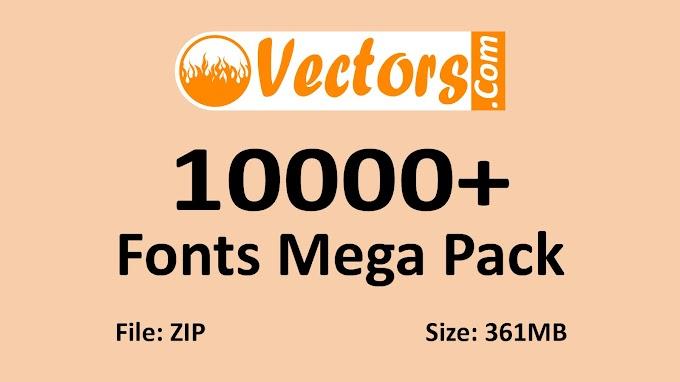 10000+ Fonts Mega Pack