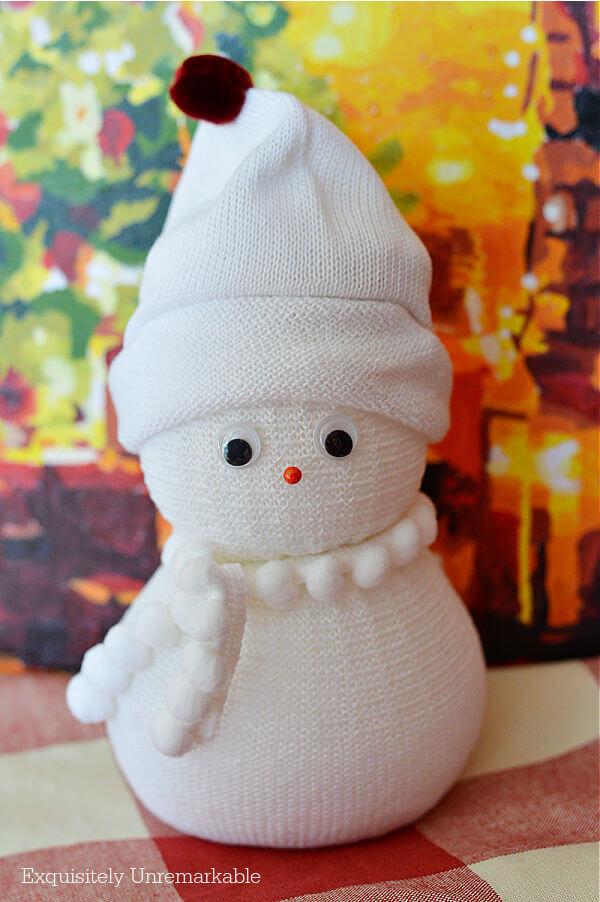 DIY Easy No Sew Sock Snowman