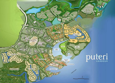 Puteri Harbour Map