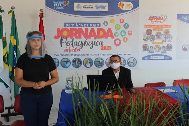 Secretaria de Educação de Caraúbas segue em seu segundo dia de programação virtual da Jornada Pedagógica
