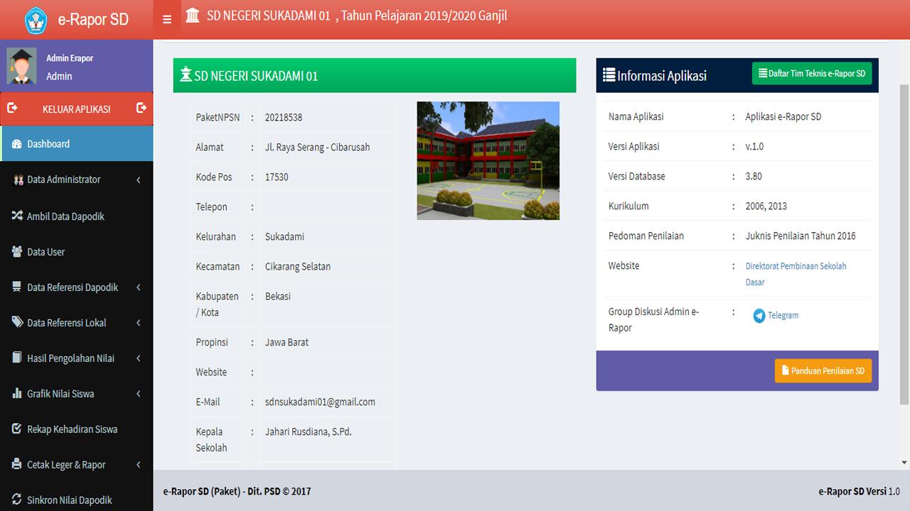 Aplikasi e-rapor SD Versi Kemdikbud Terintegrasi Dapodik
