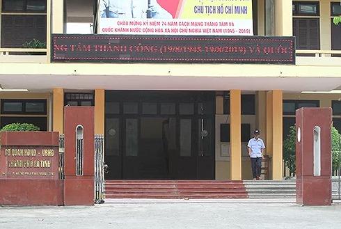 Kỷ luật Chủ tịch HĐND và Trưởng ban tổ chức TP Hà Tĩnh