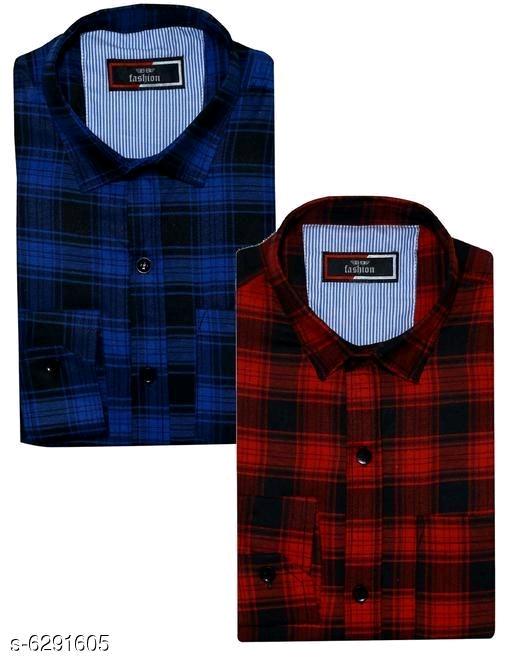 Men's Cotton Shirts combo of 2 piece