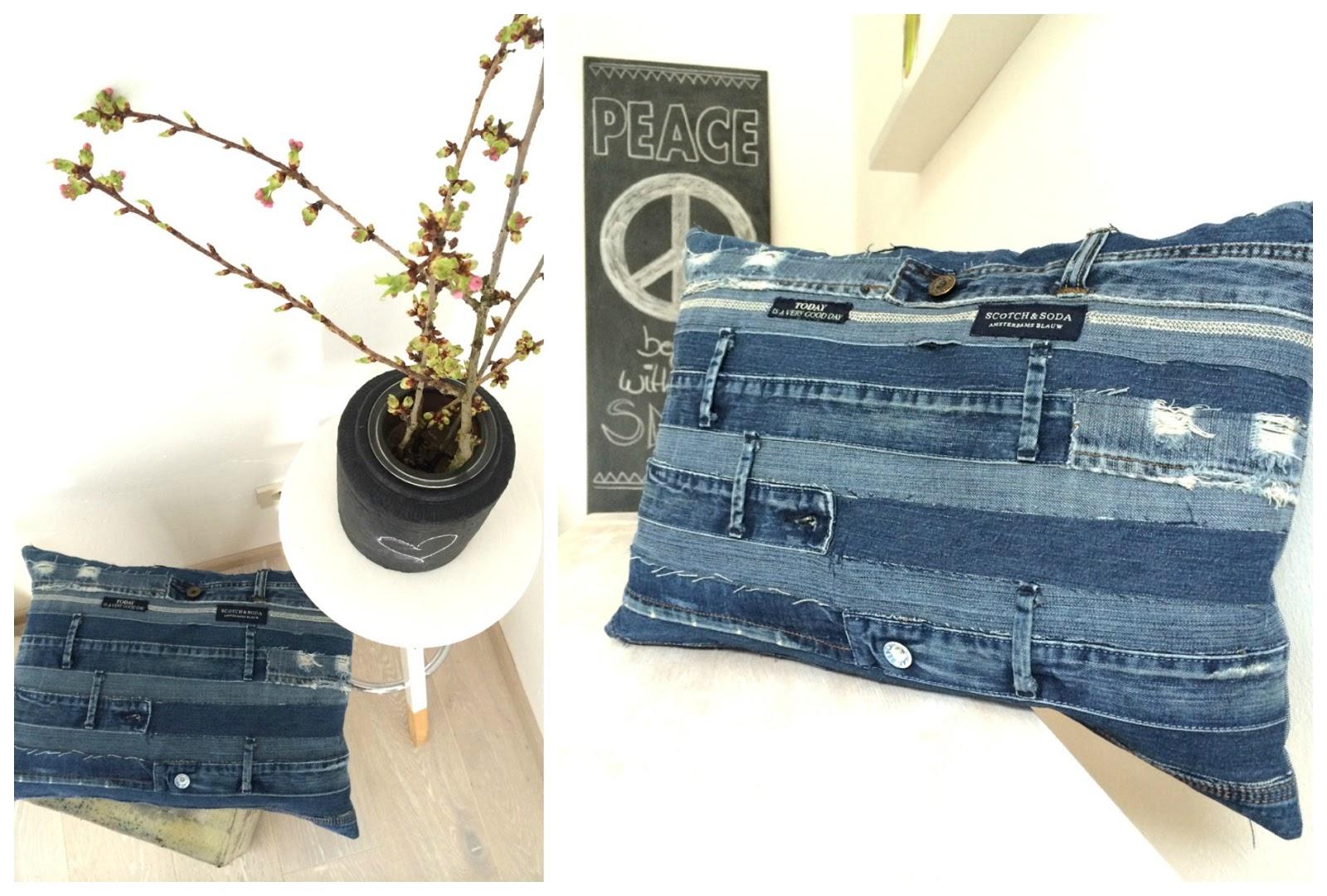 kissen aus jeans naehen, anlukaa: schon wieder - upcycling - blue jeans love, Design ideen