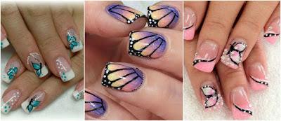 mariposas-diseños-manicura