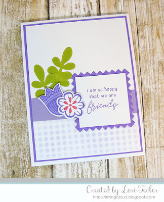 So Happy that We Are Friends card-designed by Lori Tecler/Inking Aloud-stamps from Reverse Confetti