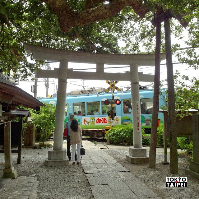 【御靈神社】電車從鳥居前穿越 充滿能量的小神社