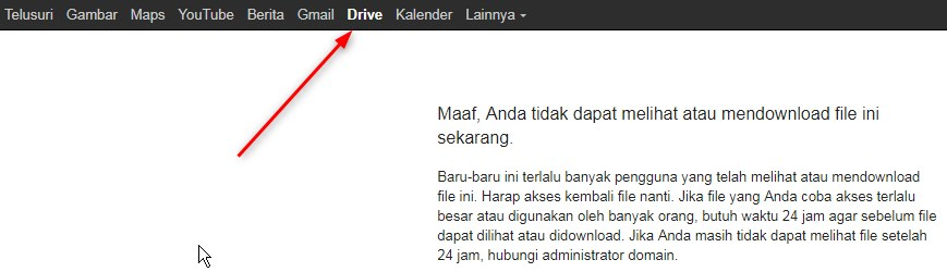 Cara Mengatasi Limit 24 jam Download Google Drive di PC