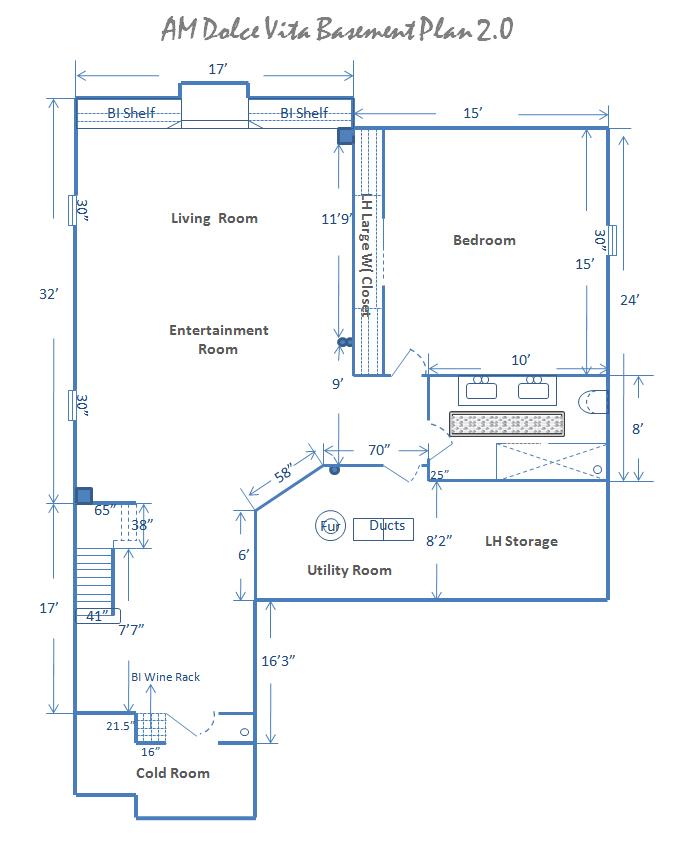AM Dolce Vita: Basement Design Plan 2.0