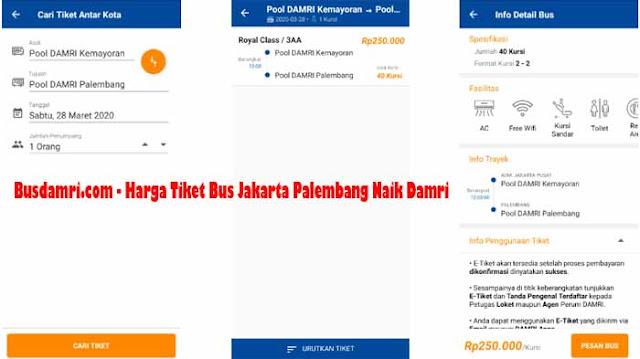 Harga Tiket Bus Jakarta Palembang