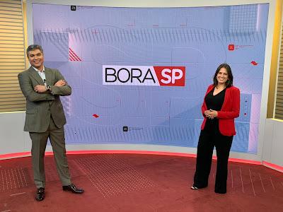 Joel Datena e Maiara Bastianello - Divulgação/Band