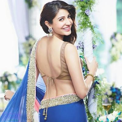Anushka Sharma hot sari image