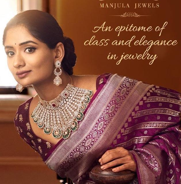 Sandhya Raju Diamond Set by Manjula Jewels