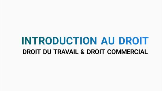 introduction au Droit : Objectif