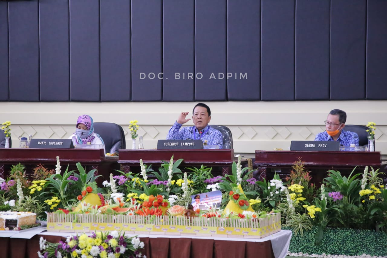 Spirit 1 Tahun Kepemimpinan Arinal-Nunik, Gubernur Arinal Jalin Kebersamaan OPD Wujudkan 33 Janji Kerja Rakyat Lampung Berjaya